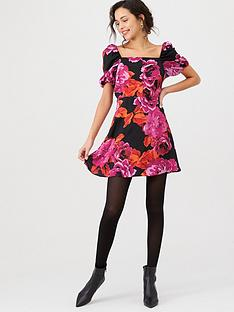 v-by-very-puff-sleeve-mini-dress-floral