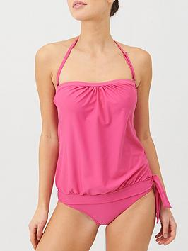 V by Very V By Very Mix &Amp; Match Blouson Tankini Top - Pink Picture