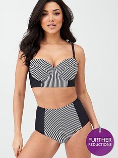 v-by-very-shapewear-stripe-panelled-underwired-bikini-top-monochrome-stripe