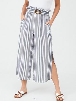 V by Very V By Very Wide Leg Beach Trouser - Stripe Picture