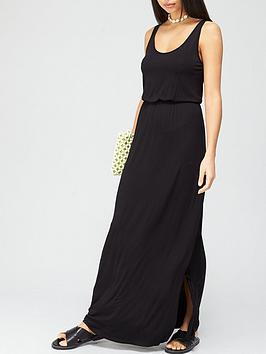 V by Very V By Very Channel Waist Jersey Maxi Dress - Black Picture