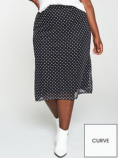 v-by-very-curve-mesh-midi-skirt-spot-print