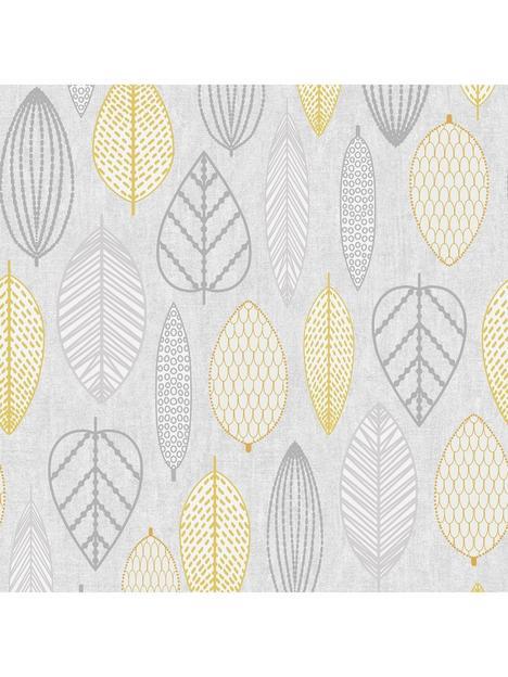 superfresco-easy-scandi-leaf-wallpaper-ndash-yellow