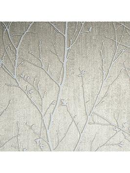 Boutique Boutique Water Silk Sprig Taupe Wallpaper Picture