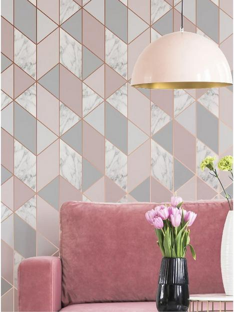 sublime-marble-blush-geo-wallpaper