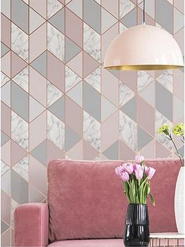 Sublime Sublime Marble Blush Geo Wallpaper Picture