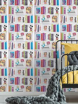 disney-bookshelf-wallpaper