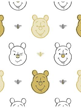 Disney   Winnie The Pooh Bee Gold Wallpaper