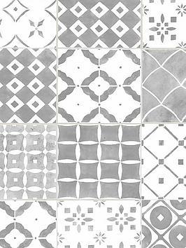 Contour Porches Grey Wallpaper