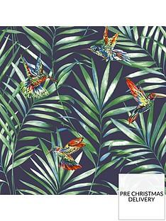 fresco-hummingbird-navy-wallpaper