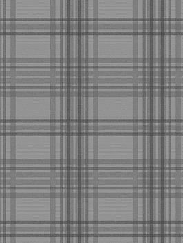 Superfresco Easy Superfresco Easy Country Tartan Charcoal Wallpaper Picture
