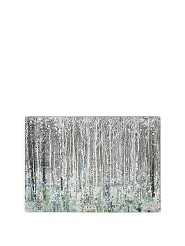 Graham & Brown Graham & Brown Watercolour Woods Canvas With Metallic Picture
