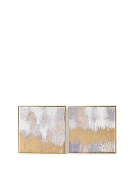 Graham & Brown Graham & Brown Laguna Mist Handpainted Canvas In Boxed Frame Picture