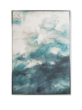 Graham & Brown Graham & Brown Abstract Skies Canvas In Boxed Frame Picture