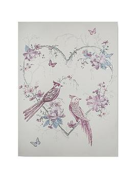 Graham & Brown Graham & Brown Elegant Songbirds Canvas With Metallic &  ... Picture