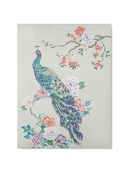Graham & Brown Graham & Brown Pretty Peacock Canvas With Metallic Picture
