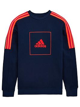 Adidas  Childrens Aac Crew Neck Top - Navy