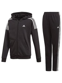 Adidas   Childrens Jb Cotton Tracksuit - Black