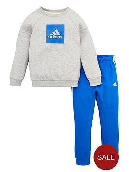 adidas-infant-2-piece-3-stripe-logo-sweatshirt-and-jogger-set-medium-grey-heather