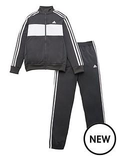 adidas-childrens-jb-dmh-3-stripe-full-zip-hoodie-tracksuit-grey