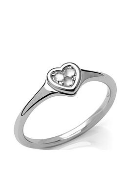 Links of London Links Of London Open Heart Sterling Silver & Moonstone Ring Picture