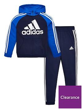 adidas-boys-french-terry-tracksuit-jogger-setnbsp--navy