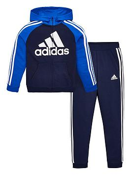 Adidas   Boys French Terry Tracksuit Jogger Set - Navy