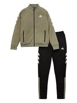 Adidas   Childrens Yb Xfg Tracksuit - Green