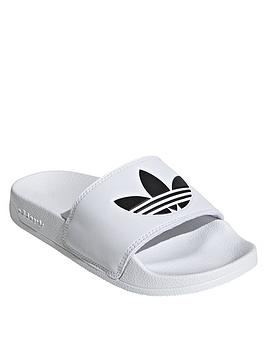 adidas Originals  Adidas Originals Adilette Lite Junior Slides - White