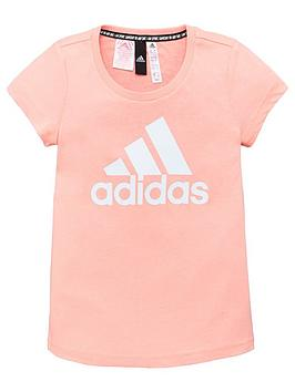Adidas Adidas Young Girls Badge Of Sport T-Shirt - Pink Picture