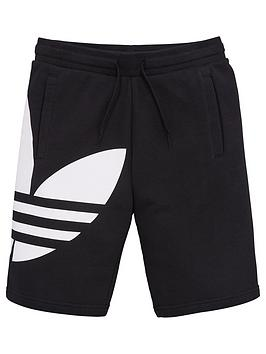 adidas Originals Adidas Originals Youth Trefoil Shorts - Black Picture