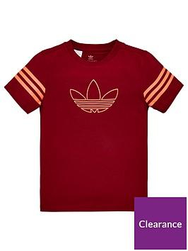 adidas-originals-childrens-outline-short-sleeve-t-shirt-burgundy