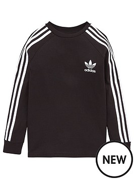 adidas-originals-childrens-three-stripes-long-sleeve-sweat-top-black
