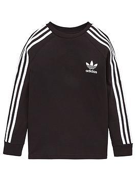 adidas Originals Adidas Originals Childrens Three Stripes Long Sleeve  ... Picture