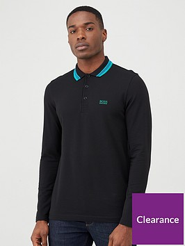 boss-plisy-long-sleeved-polo-shirt-black