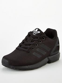 adidas Originals Adidas Originals Zx Flux Junior Trainers - Core Black Picture