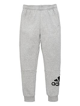 Adidas   Childrens Badge Of Sport Pants - Grey