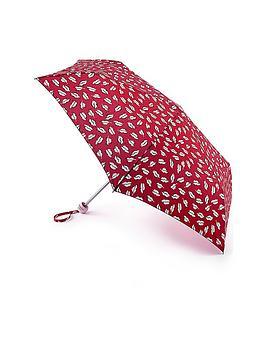 Lulu Guinness Lulu Guinness Beauty Spot Kiss Mini Lite Umbrella - Red Print Picture