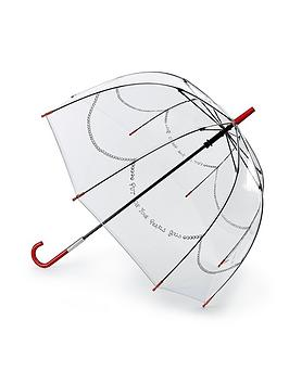 lulu-guinness-put-on-your-pearls-girls-clear-umbrella