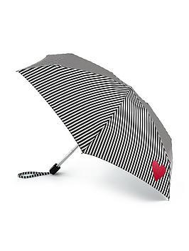 Lulu Guinness Lulu Guinness Stripe And Heart Tiny Umbrella - Print Picture