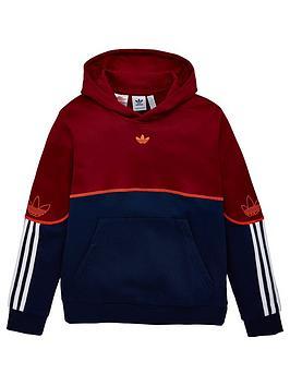 adidas Originals Adidas Originals Outline Hoodie - Burgundy Picture