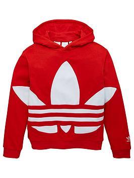 adidas Originals Adidas Originals Youth Trefoil Hoodie - Red Picture