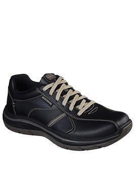 Skechers Skechers 2.0 Belfair Lace Up Shoe - Black Picture
