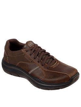 Skechers Skechers 2.0 Belfair Lace Up Shoe - Brown Picture