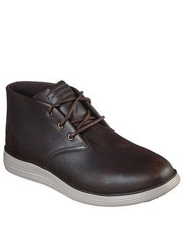 Skechers Skechers Status 2.0 Lace Up Boot - Chocolate Picture