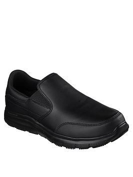skechers-flex-advantage-bronwood-slip-on-shoe-black