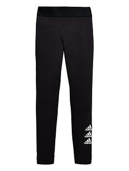 Adidas Adidas Junior Girls Must-Haves Badge Of Sport Tights - Black Picture