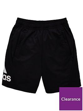 adidas-childrens-three-stripe-shorts-black