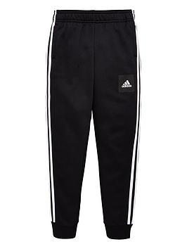 Adidas   Boys 3 Stripe Pants - Black