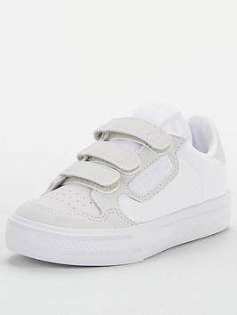 adidas-originals-continental-vulc-childrens-trainers-white